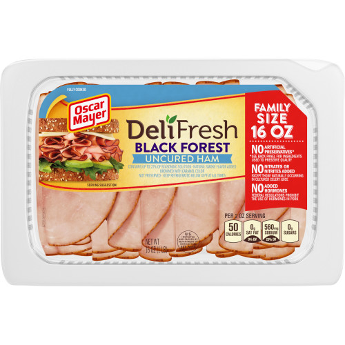Oscar Mayer Deli Fresh Black Forest Uncured Ham, 16 oz Package