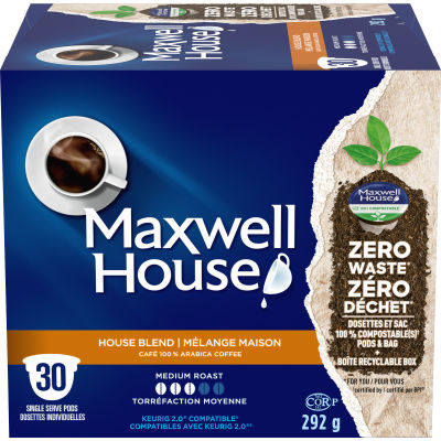 Maxwell House House Blend 30 ct Single Serve Coffee Pods