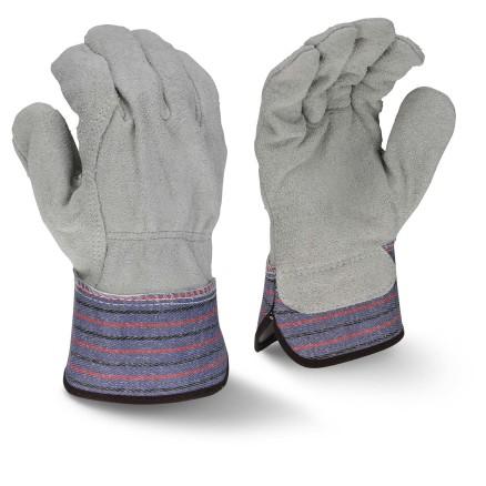 Radians RWG3206 Full Regular Shoulder Gray Split Cowhide Leather Palm Glove