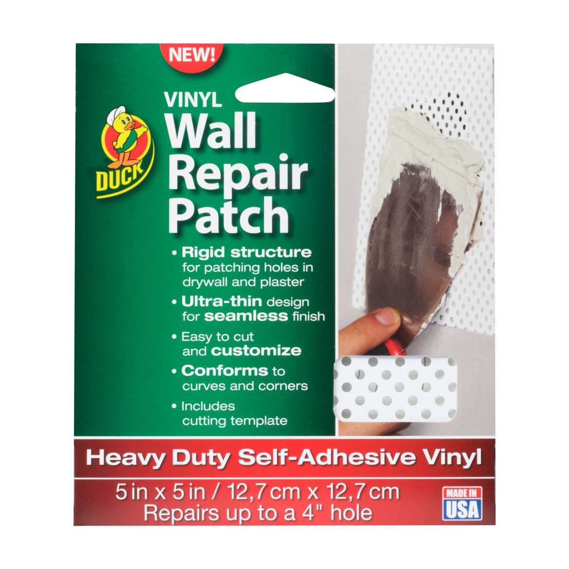 Duck® Brand Vinyl Wall Repair Patch - White,  5 in. x 5 in. Image