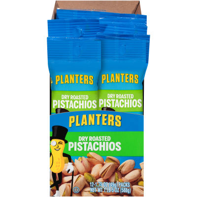 Planters Dry Roasted Pistachios 12 - 1.75 oz Bags
