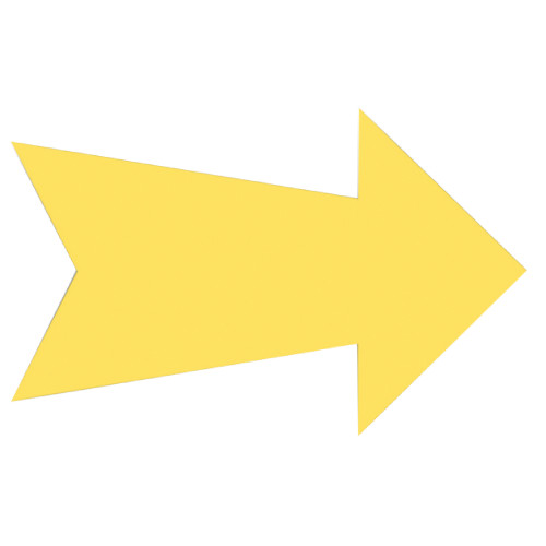 Blank Arrow Sign Yellow (7