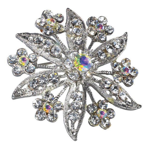 Large Jeweled Brooch Special Occasion Decoration