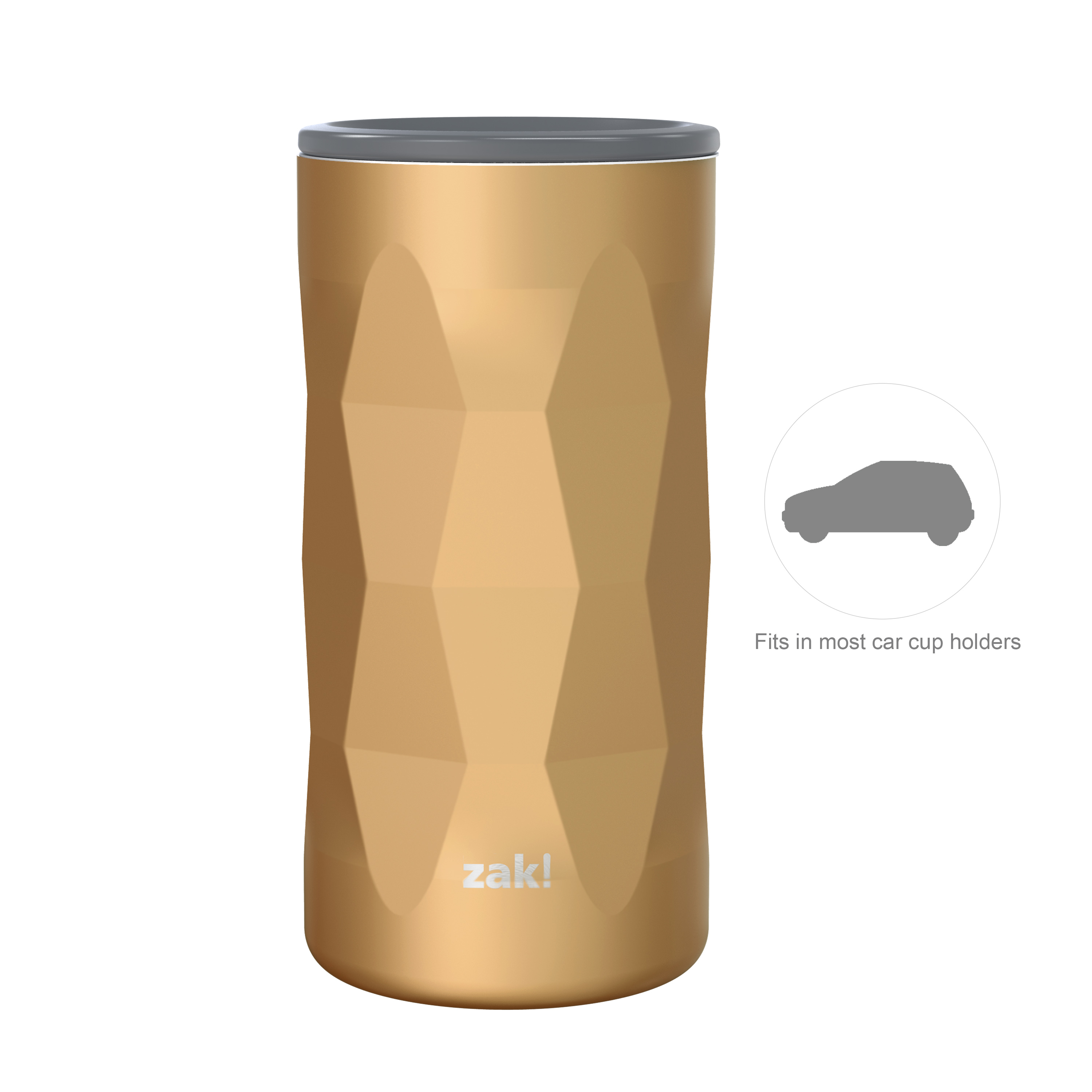 Fractal 12 ounce Vacuum Insulated Stainless Steel Tumbler, Copper slideshow image 6