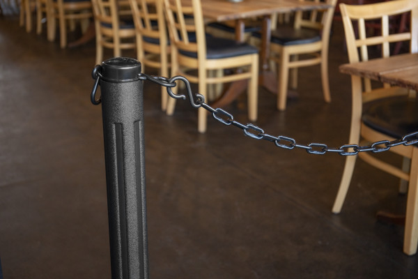 ChainBoss Stanchion - Black Filled with Black Chain 29