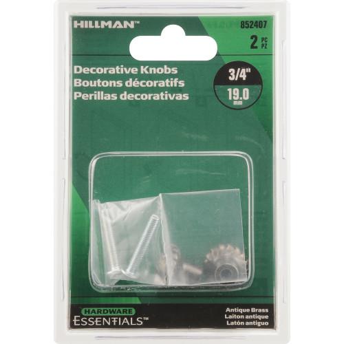 Hardware Essentials Decorative Knobs 3/4