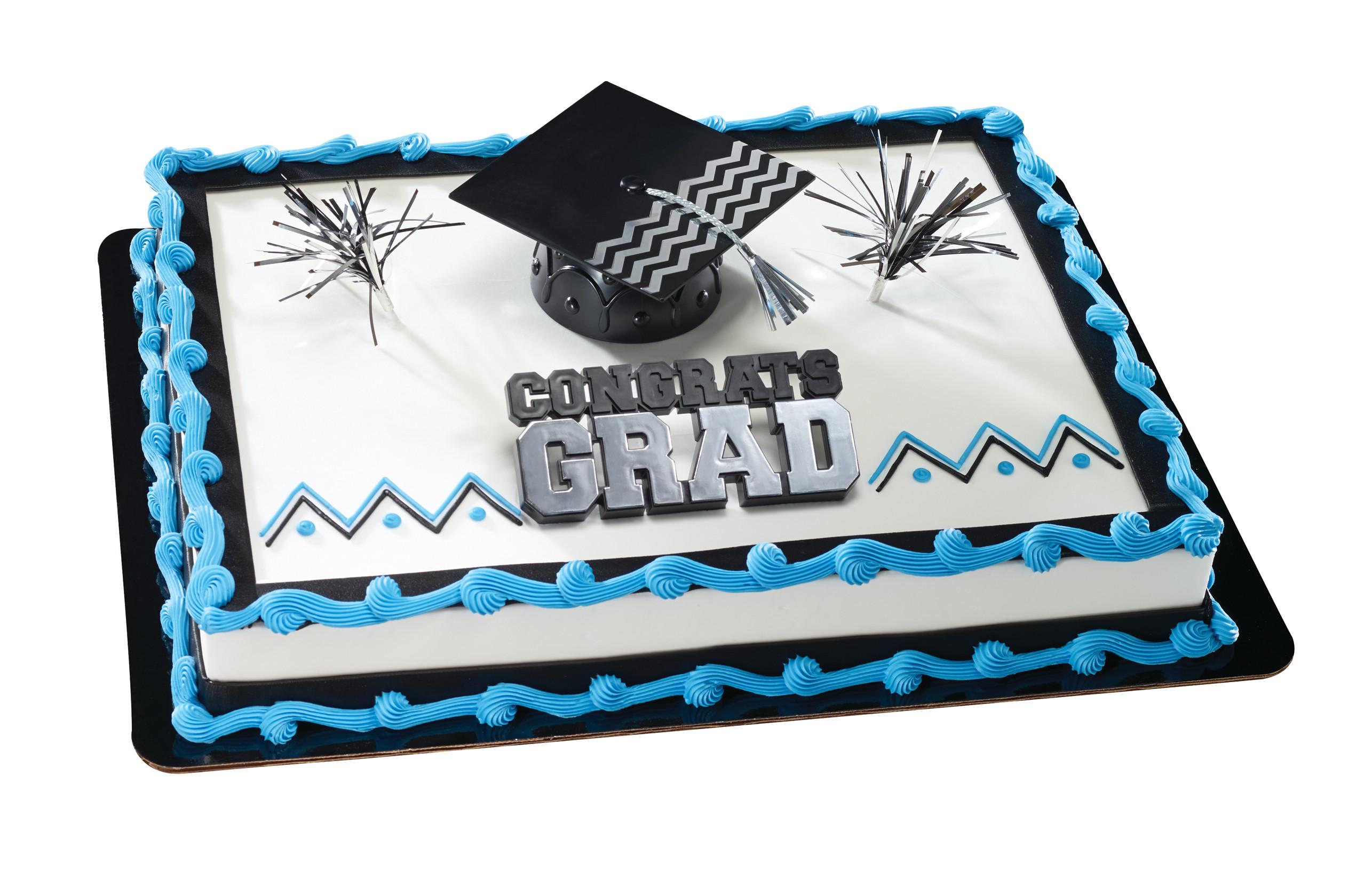 Congrats Grad Amp Cap Silver Graduation Decoset 174 Decopac