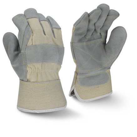 Radians RWG3400W Side Split Gray Cowhide Leather Double Palm Glove