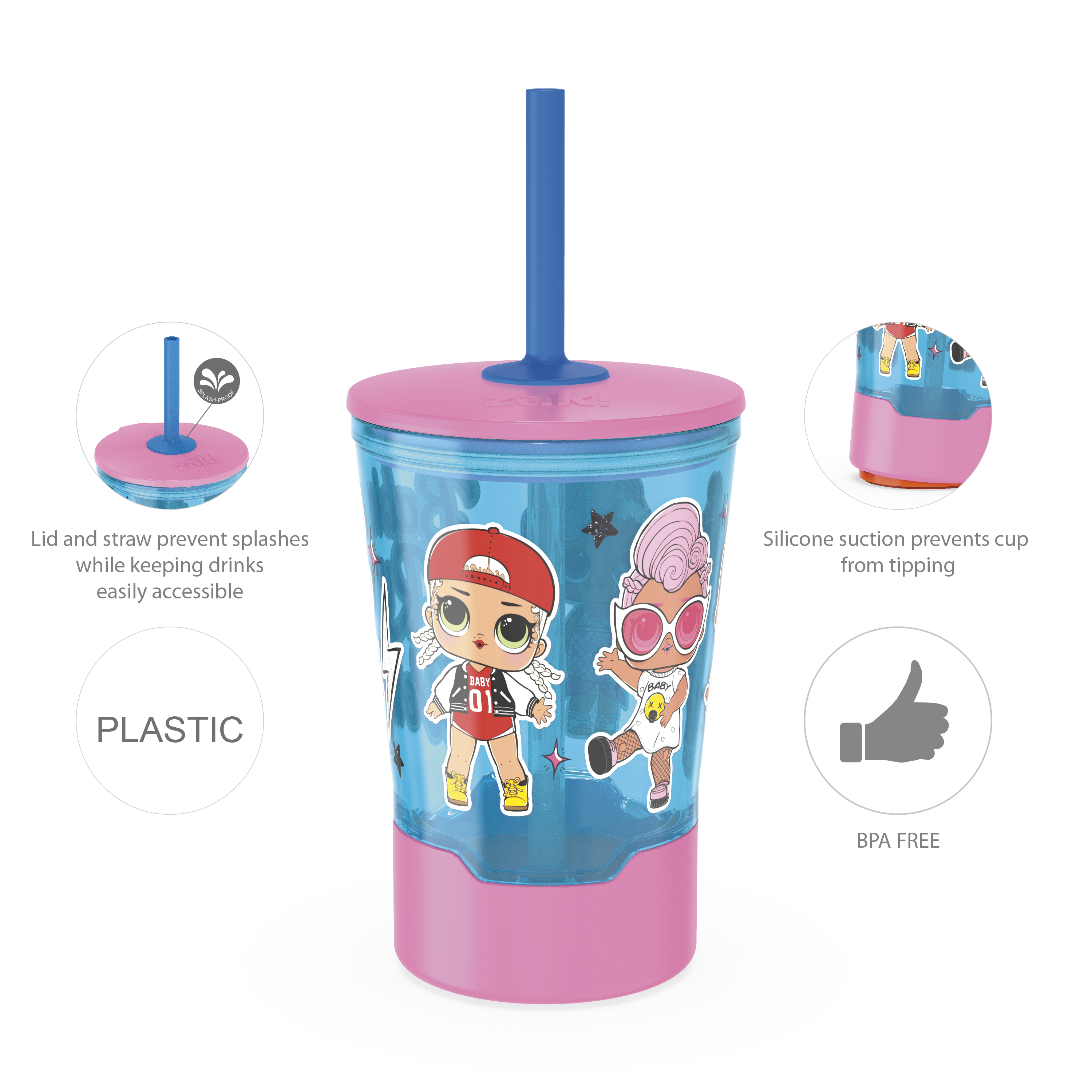 LOL Surprise 16 ounce Mighty Mug Tumbler with Straw, Babies Run the World slideshow image 10