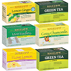 Mixed Case of Bigelow Teas for Cold and Flu - Case of 6 boxes- total of 108 teabags