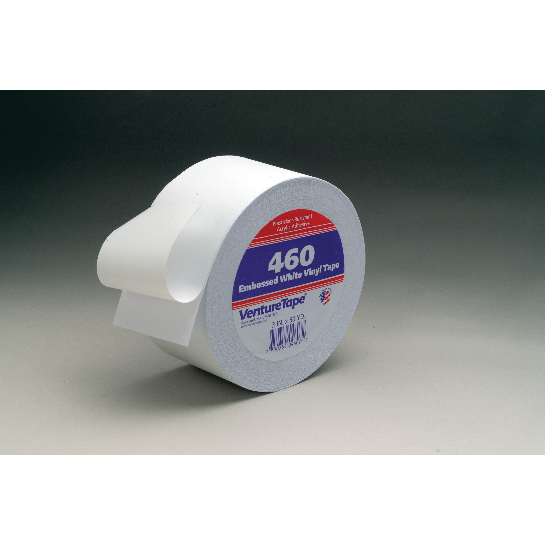 3M™ Venture Tape™ Vinyl Seaming Tape 460V, Embossed, Black, 72 mm x 45.7 m, 16 rolls per case