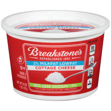 Breakstone's Small Curd Low Sodium Cottage Cheese 16 oz Tub