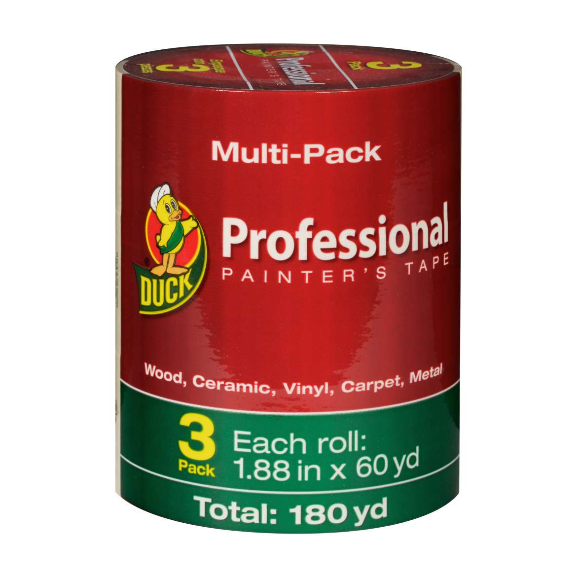 Duck® Brand Professional Painter's Tape - Beige, 3 pk, 1.88 in. x 60 yd. Image