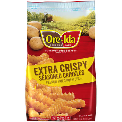 Ore-Ida Extra Crispy Seasoned Crinkles French Fried Potatoes 26 oz Bag