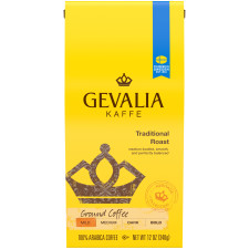 Gevalia Traditional Roast Ground Coffee 12 oz Bag