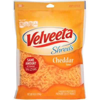 Velveeta Shreds Cheddar Flavor Cheese 8 oz Pouch