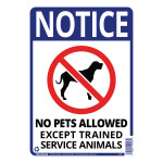 "No Pets Allowed Sign (10"" x 14"")"