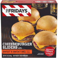 TGI Friday's Cheeseburger Sliders with Sweet & Smoky BBQ Sauce 4 count Box