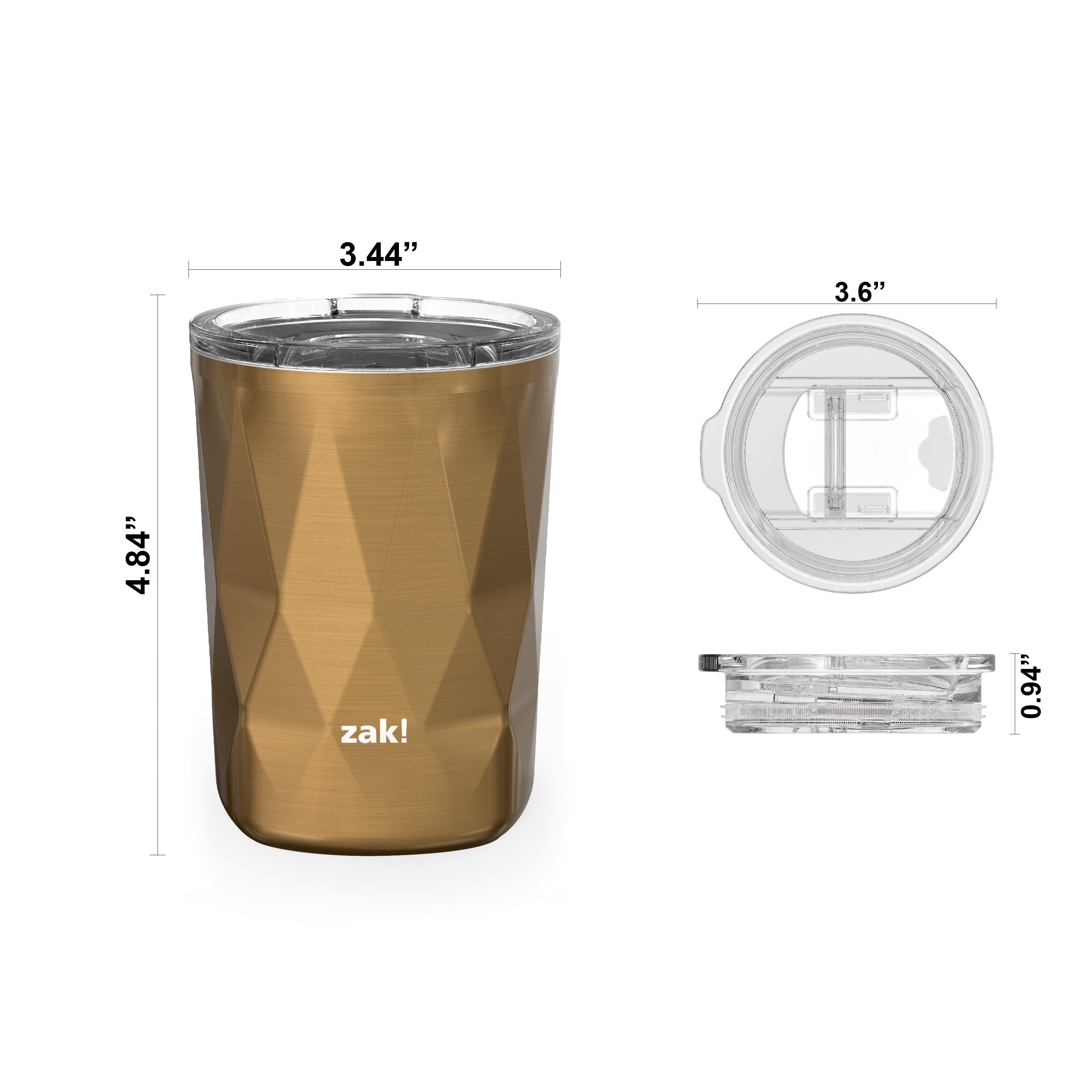 Fractal 13 ounce Vacuum Insulated Stainless Steel Tumbler, Copper slideshow image 4