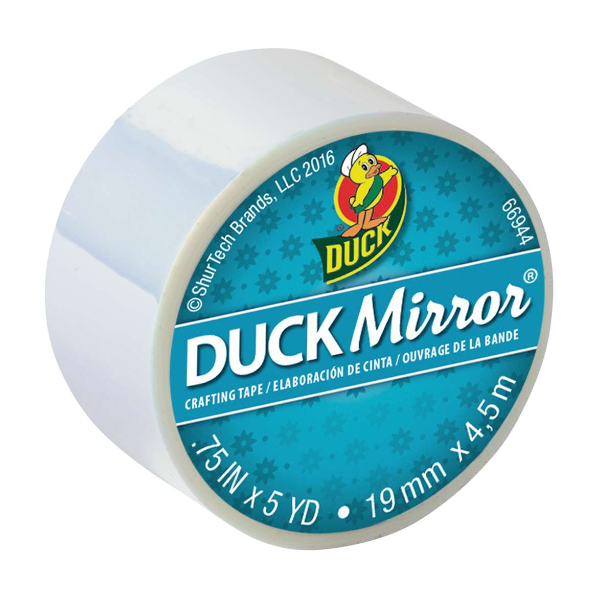 Duck Mirror® Crafting Tape - White, 0.75 in. x 5 yd. Image
