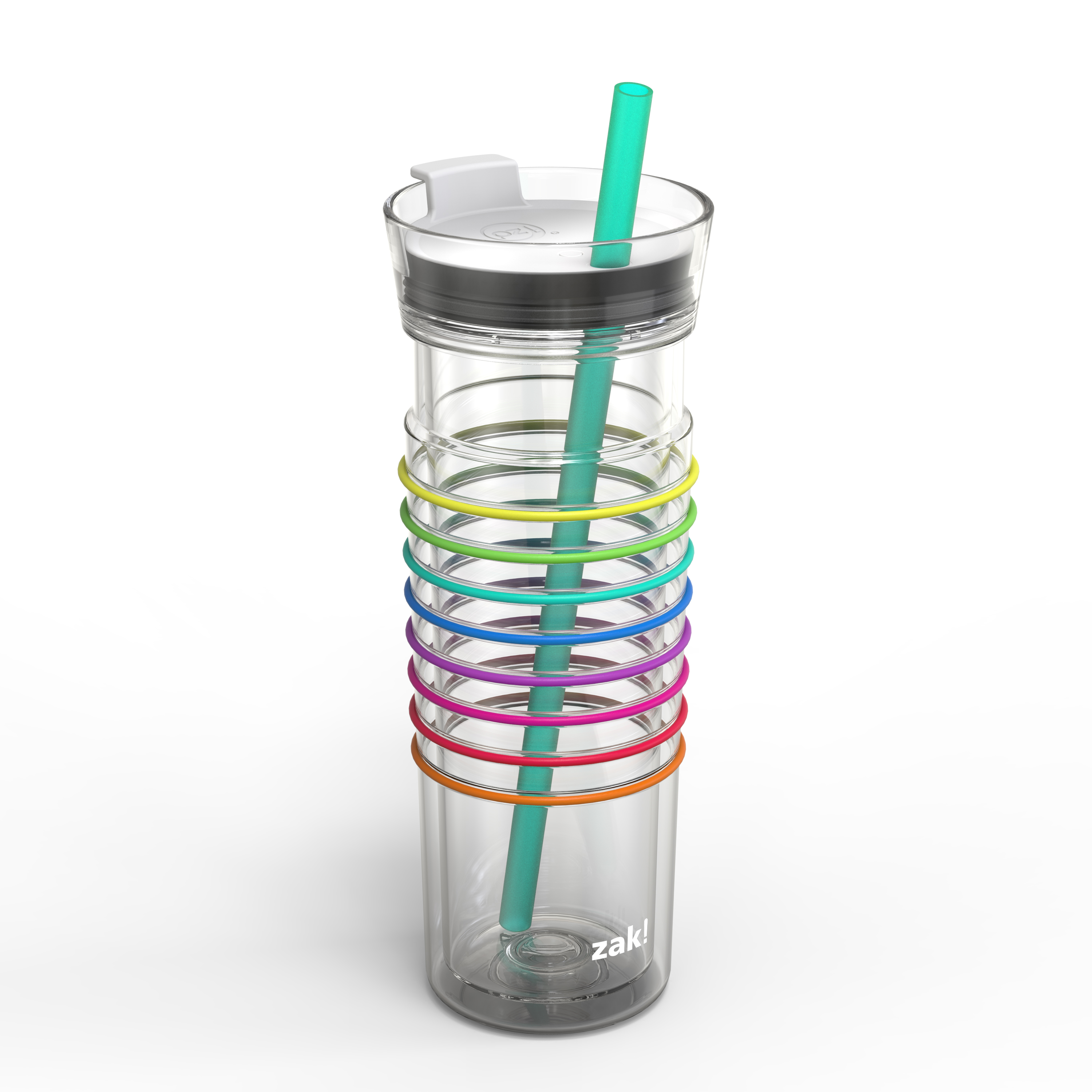 Zak! Hydration 20 ounce Insulated Tumbler, Clear slideshow image 6