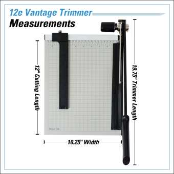 Dahle Vantage® 12e Trimmer InfoGraphic - Measurements