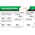"Nylon Specialty Washers Assortment (0.625"" thru 1.52"" Inner Dia. x 1.5"" thru 2.93"" Outer Dia.)"