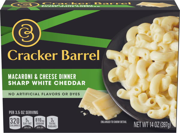 Cracker Barrel Macaroni and Cheese Dinner, 14 oz Box