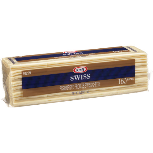 KRAFT Swiss Sliced Cheese (160 Slices), 5 lb. (Pack of 4)