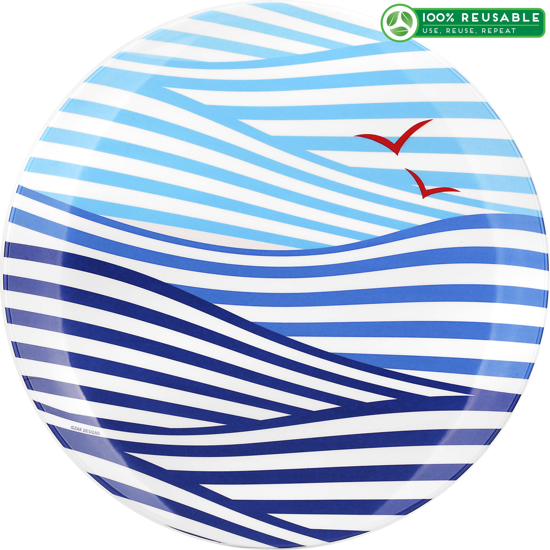 Wave Creatures Melamine Plate, Seagull slideshow image 1