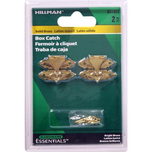 Hardware Essentials Solid Brass/Bright Brass Decorative Catch