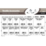 Throttle Accessories Assortment (Conduit Clamps, Handle Bar Clips, & Wire Swivels)