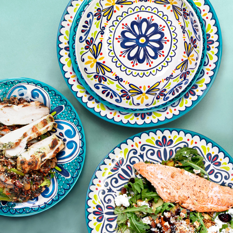 Medallion Dinnerware Set, Cool, 12-piece set slideshow image 7