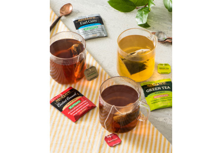 Lifestyle image of cups of Bigelow Decaffienated Teas