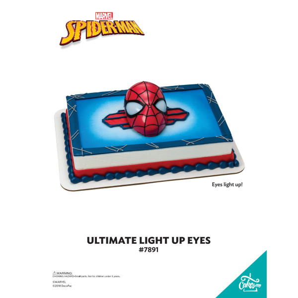 MARVEL Ultimate Spider-Man™ Ultimate Light-Up Eyes DecoSet® The Magic of Cakes® Page