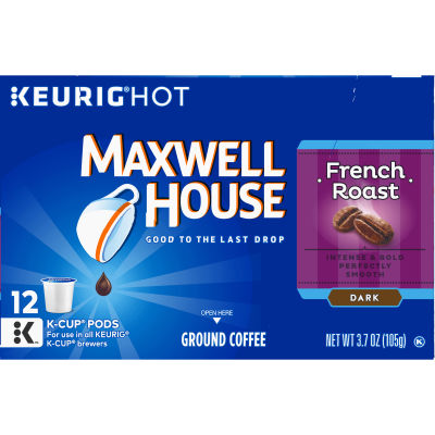 Maxwell House French Roast Coffee K-Cup Pods 3.7 oz Box