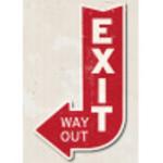"""Aluminum Exit Arrow Sign 10"""" x 14"""""""