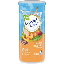 Crystal Light Peach Iced Tea Powdered Drink Mix 6 count Canister