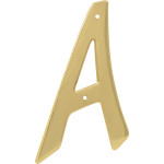 """Hillman 4"""" Nail-On Brass House Letter"""