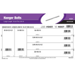 "Longer Length Hanger Bolts Assortment (#10-24 thru 3/8""-16)"