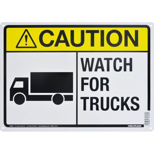 Aluminum Watch For Truck Caution Sign 10