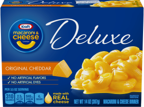 Kraft Dinners Deluxe Original Cheddar Macaroni & Cheese Dinner 14 Oz Box image