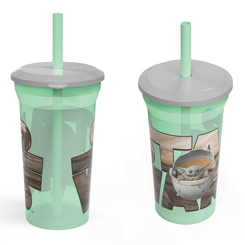 Star Wars: The Mandalorian 14 ounce Kids Reusable Tumblers with Straws, The Mandalorian, 2-piece set slideshow image 4
