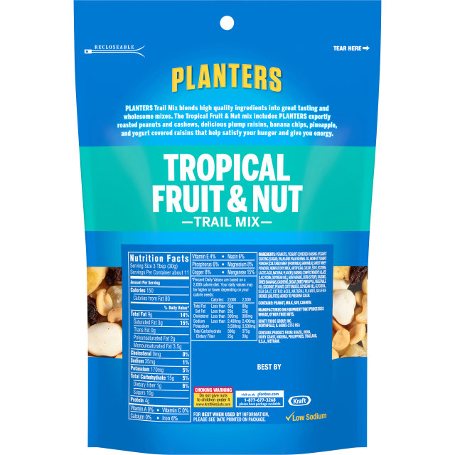 PLANTERS Trail Mix Tropical Fruit & Nut 12 oz Bag