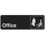 "Adhesive Office Sign (3"" x 9"")"