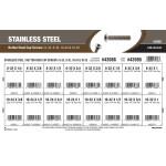 Stainless Steel Button-Head Cap Screws Assortment (#6-32, #8-32, #10-24, and #10-32 Thread)