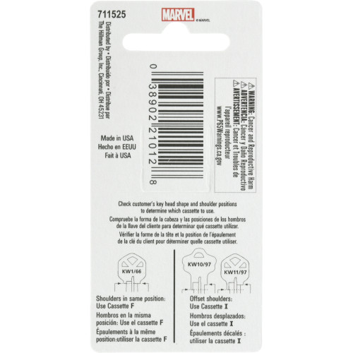 Marvel's Iron Man Kwikset 66/97 KW1/10 Key Blank