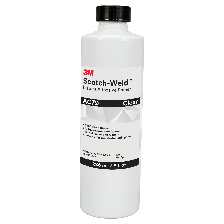3M™ Scotch-Weld™ Instant Adhesive Primer AC79, Clear, 8 fl oz Bottle, 4/case