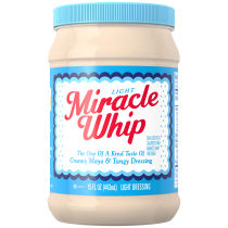 KRAFT MIRACLE WHIP Dressing Light 15 fl oz Jar