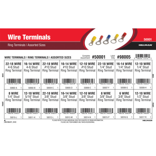 Ring Wire Terminals Assortment (Assorted Sizes)